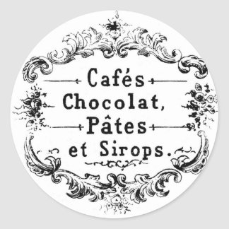 Vintage French Cafe Sticker