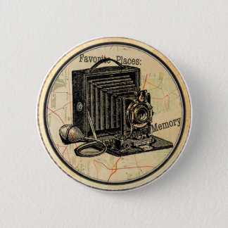 Vintage French Camera Party Button Pin