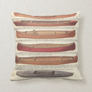 Vintage french canoe catalogue (1931) pillows
