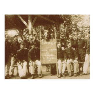 Vintage French Cavalry, World War I Postcard