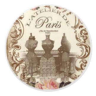 Vintage French Ceramic Knob