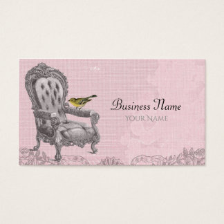 Vintage French Chair on Pink Business Card