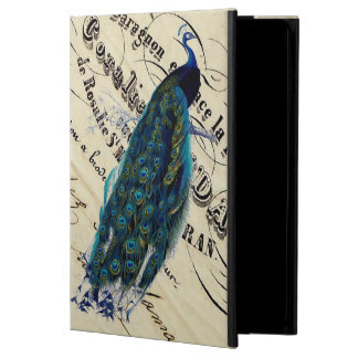 Vintage French Chic Blue Peacock iPad Air Case