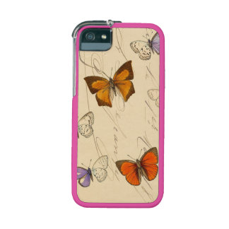 Vintage French Chic Butterflies Pattern iPhone 5 Cases