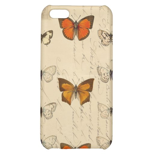Vintage French Chic Butterflies Pattern iPhone 5C Covers