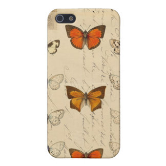 Vintage French Chic Butterflies Pattern iPhone 5 Cover