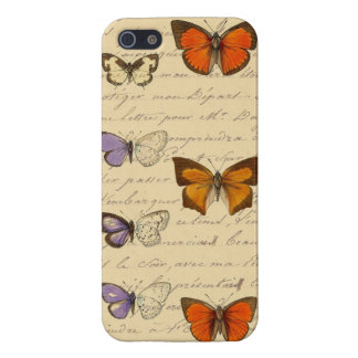 Vintage French Chic Butterflies Pattern Covers For iPhone 5