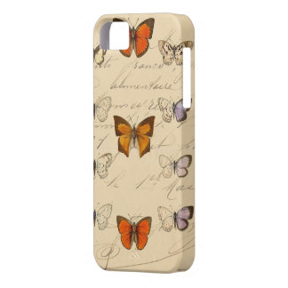 Vintage French Chic Butterfly Pattern iPhone 5 Covers