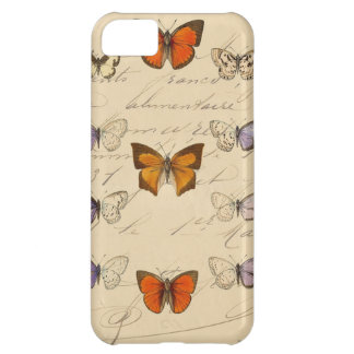 Vintage French Chic Butterfly Pattern iPhone 5C Cases