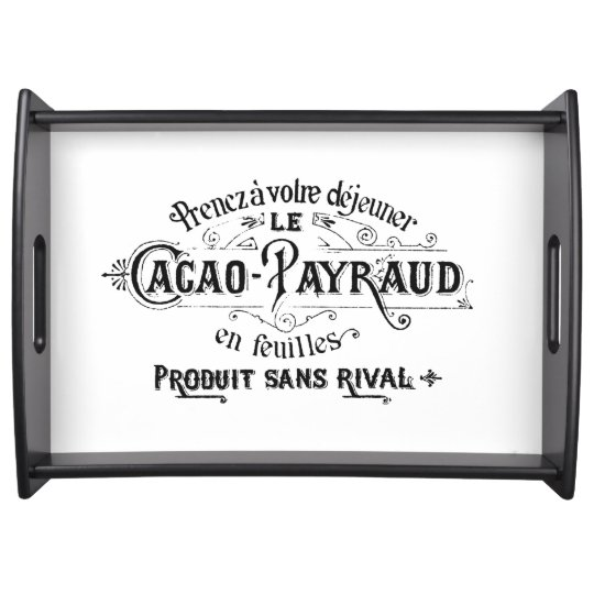 Vintage French Chocolate Ad Food Trays