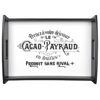 Vintage French Chocolate Ad Serving Tray