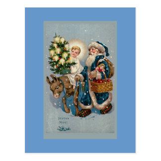 """Vintage French Christmas Card"" Postcard"