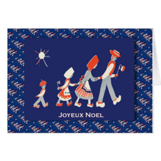 Vintage French Christmas, Family party Greeting Card