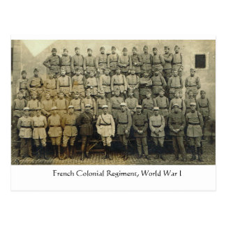 Vintage, French Colonial Regiment, World  War I Postcard