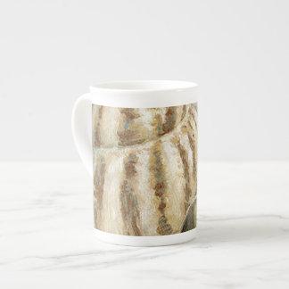 Vintage French Conch Shell Bone China Mug