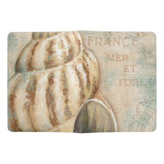 Vintage French Conch Shell Extra Large Moleskine Notebook
