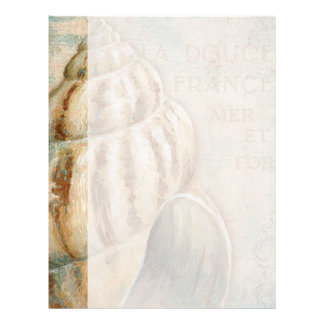 Vintage French Conch Shell Letterhead Template