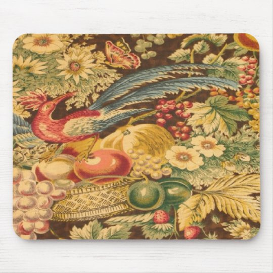 Vintage French Country Bird Butterfly Mousepad