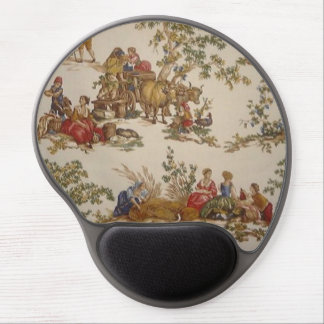 Vintage French Country Toile Gel Mousepad