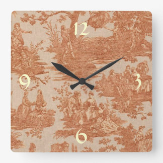 Vintage French Country Toile Wall Clock