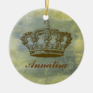Vintage French Crown Personalized Ornament