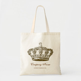 Vintage French Crown Personalized Tote Bag