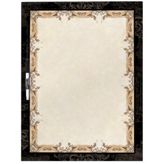 Vintage French Damask Antique Decorative Swirl Dry Erase Board