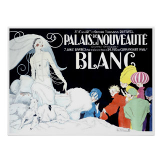 Vintage French Extravagant Fashion Advertising Poster