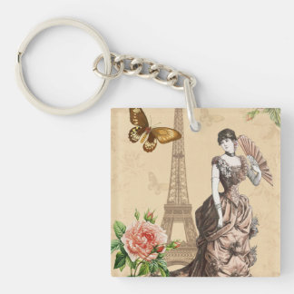 Vintage french fashion elegant keychain