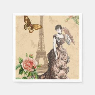 Vintage french fashion elegant paper napkins