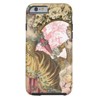 Vintage French Fashion Flowers and Frame Tough iPhone 6 Case