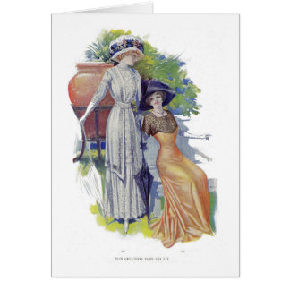 Vintage French Fashion from 1910 Card