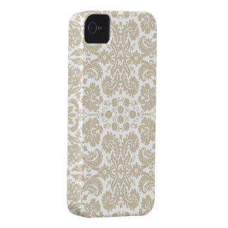 Vintage french floral art nouveau pattern Case-Mate iPhone 4 cases