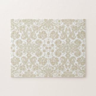 Vintage french floral art nouveau pattern jigsaw puzzle
