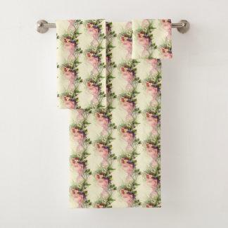 Vintage French Floral Dress Forms Towel Set
