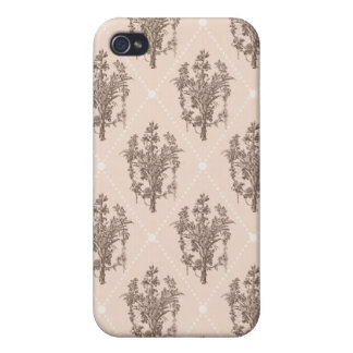 Vintage French Floral Pattern Covers For iPhone 4