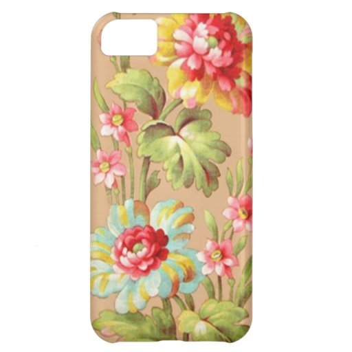 Vintage French Floral Textile Pattern iPhone 5C Cases