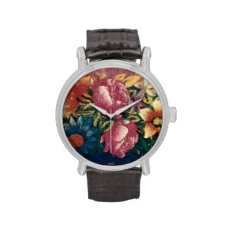 Vintage French Floral Wristwatches