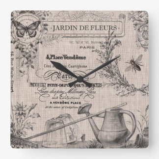 Vintage French Garden wall clock