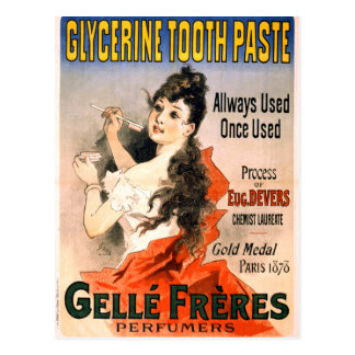 Vintage French Glycerine Tooth Paste Advertisement Postcard