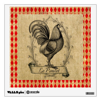 Vintage French Hen Illustration Wall Decal