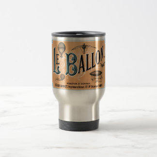 Vintage French Hot Air Balloon Advertisement Travel Mug