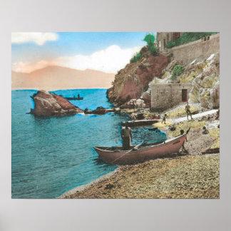 Vintage French image, Marseille, La Corniche Poster