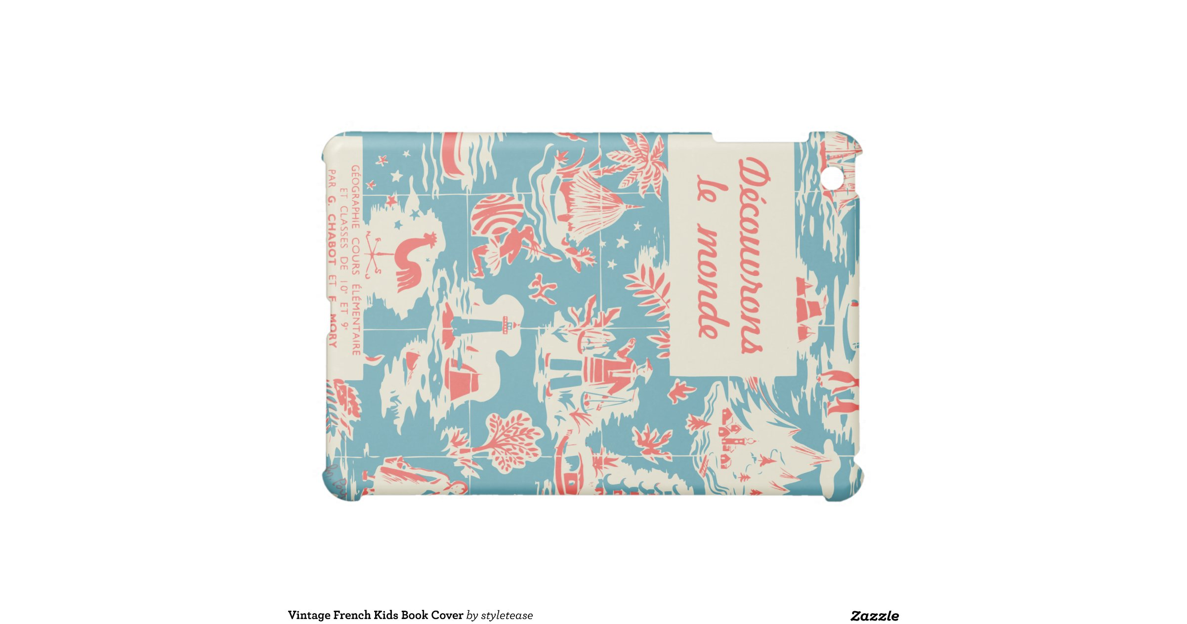 Vintage Book Cover Shirts : Vintage french kids book cover ipad mini covers zazzle