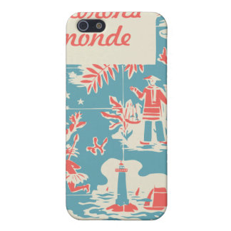 Vintage French Kids Book Cover iPhone 5 Case