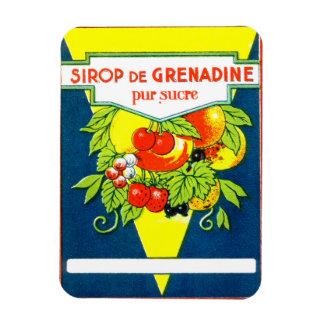 Vintage french label magnet. rectangular photo magnet