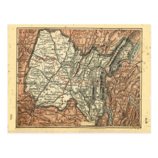 Vintage French map, Ain Postcard