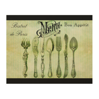 Vintage French Menu Wall Art