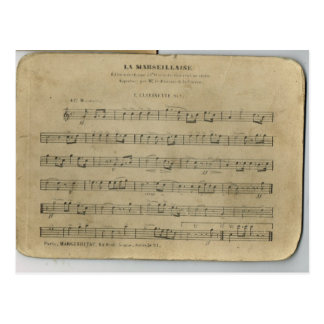 Vintage French Military Music, Le Marsellais, Postcard