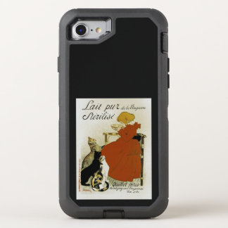 Vintage French Milk Ad OtterBox Defender iPhone 8/7 Case